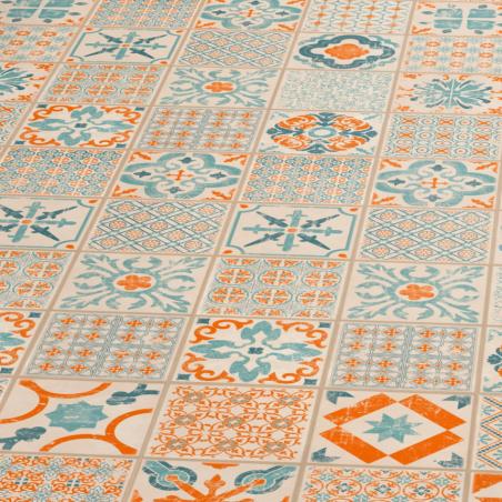 Vinilo danga Tarkett Starfloor Click 30 Retro Orange Blue