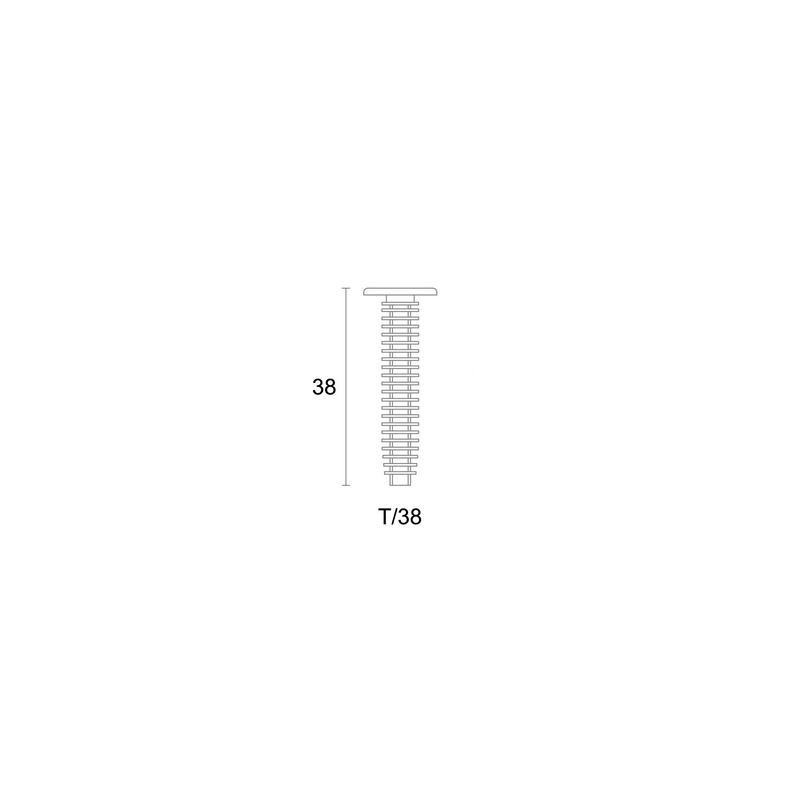 Plastikinis varžtas apdailos profiliams tvirtinti T/38 nuotrauka