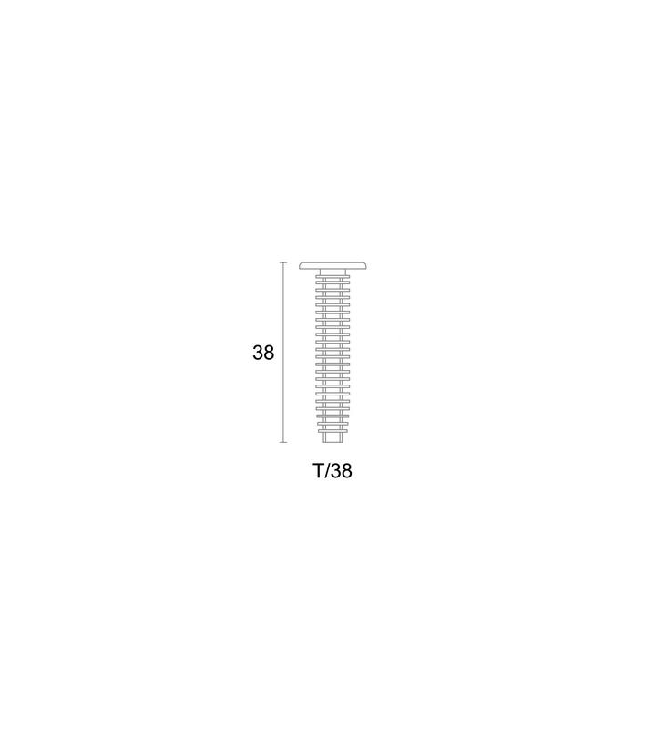 Plastikinis varžtas apdailos profiliams tvirtinti T/38