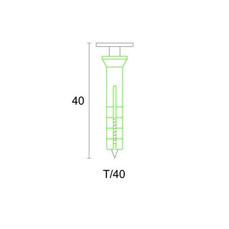 Varžtas su kaiščiu apdailos profiliams tvirtinti T/40