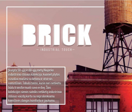 Kamštinė sienų danga Brick Apricot