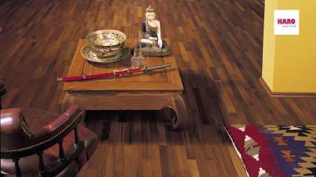 Trisluoksnė parketlentė Haro Longstrip Merbau (Raudonmedis) Favorit