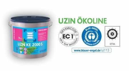Universalūs klijai lanksčioms dangoms UZIN KE 2000 S, 14  kg