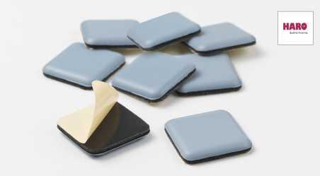Tefloniniai padukai baldams, kvadratiniai, klijuojami (8 vnt.)