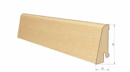 Medinė faneruota grindjuostė Pedross Uosis lakuota 20*58 MM