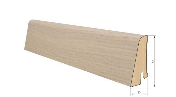 Medinė faneruota grindjuostė Pedross Ąžuolas Balintas lakuotas 20*58 MM