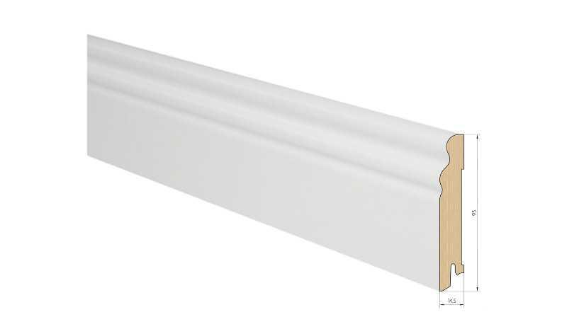 Medinė faneruota grindjuostė Pedross Ąžuolas Balta dažyta 15*95