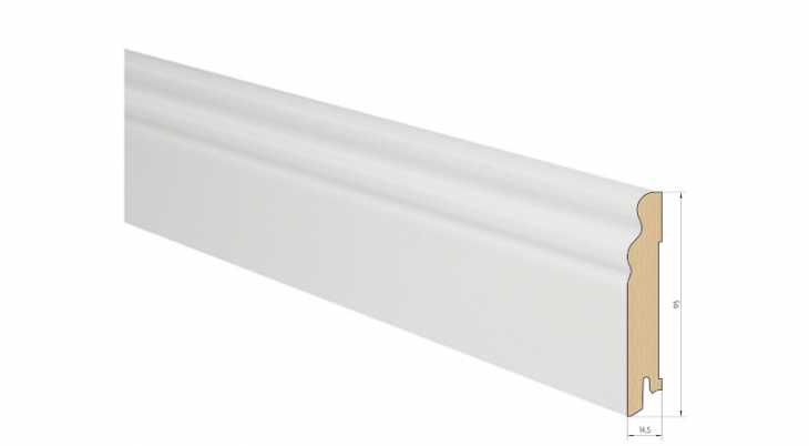 Medinė faneruota grindjuostė Pedross Ąžuolas Balta dažyta 15*95 MM