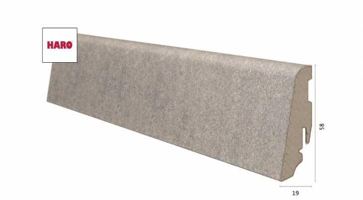 Laminuota grindjuostė Haro Celenio Athos Polar Grey 19*58 MM