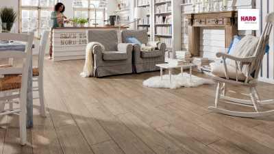 Laminuotos grindys Haro Tritty 100 Kaštonas Impresso nuotrauka