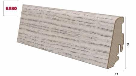 Laminuota grindjuostė Haro Ąžuolas Alpine Grey 19*58 MM