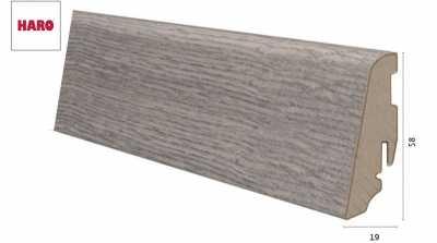 Laminuota grindjuostė Haro Ąžuolas Antique Grey 19*58 MM