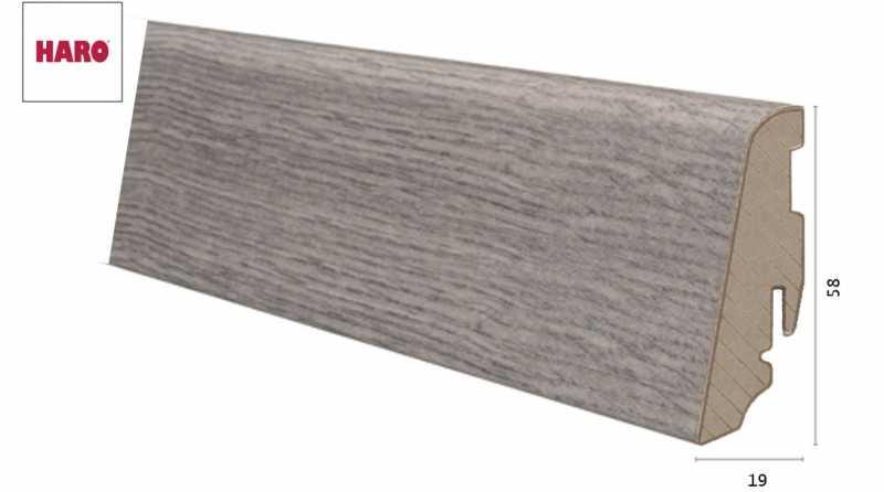 Laminuota grindjuostė Haro Ąžuolas Bergamo Carbon 19*58 MM