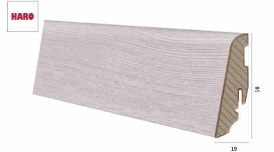 Laminuota grindjuostė Haro Ąžuolas Bergamo Silver Grey 19*58 MM