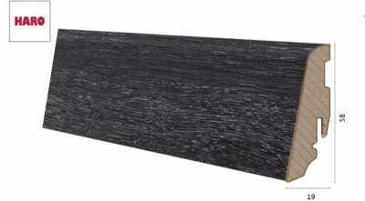 Laminuota grindjuostė Haro Ąžuolas Contura Black 19*58 MM
