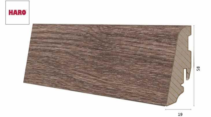 Laminuota grindjuostė Haro Ąžuolas Corona 19*58 MM