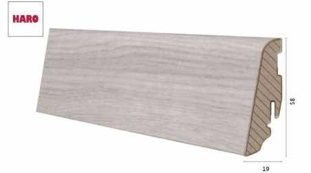 Laminuota grindjuostė Haro Ąžuolas Emilia Light Grey 19*58 MM