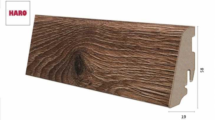 Laminuota grindjuostė Haro Ąžuolas Smoked Heartwood 19*58 MM