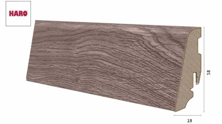 Laminuota grindjuostė Haro Ąžuolas Portland Grey 19*58 MM