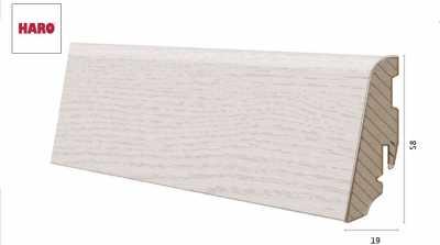 Laminuota grindjuostė Haro Chestnut Bianco 19*58 MM nuotrauka