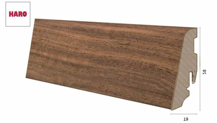 Laminuota grindjuostė Haro Riešutas Ambiente 19*58 MM