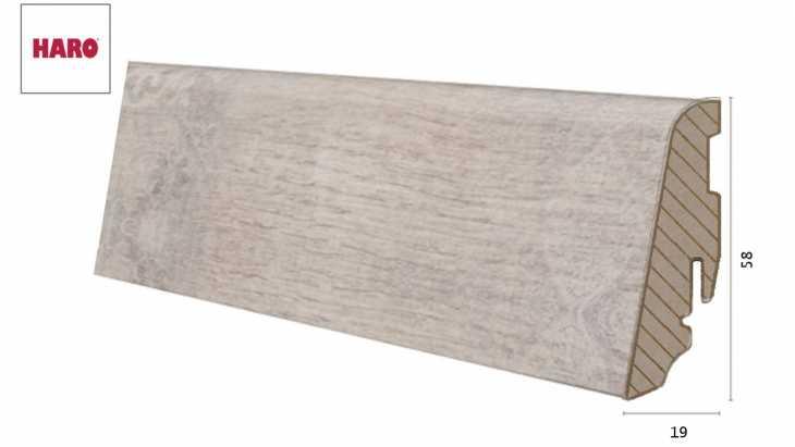 Laminuota grindjuostė Haro Stone Wood Creme 19*58 MM