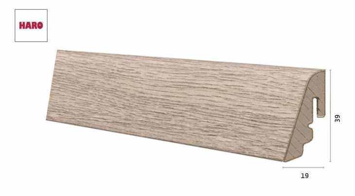 Laminuota grindjuostė Haro Ąžuolas Conturo Stone Grey 19*39 MM