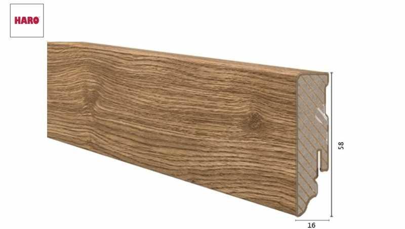 Laminuota grindjuostė Haro Ąžuolas Portland Nature 16*58 MM