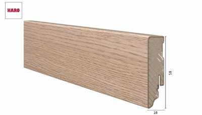 Laminuota grindjuostė Haro Ąžuolas Portland Puro 16*58 MM