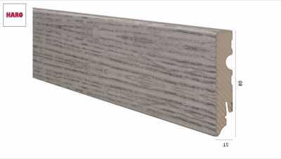 Laminuota grindjuostė Haro Ąžuolas Alpine Grey 15*80 MM