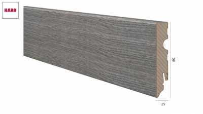 Laminuota grindjuostė Haro Ąžuolas Antique Grey 15*80 MM