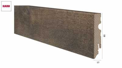 Laminuota grindjuostė Haro Ąžuolas Bergamo Antique Smoked 15*80
