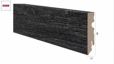 Laminuota grindjuostė Haro Ąžuolas Contura Black 15*80 MM