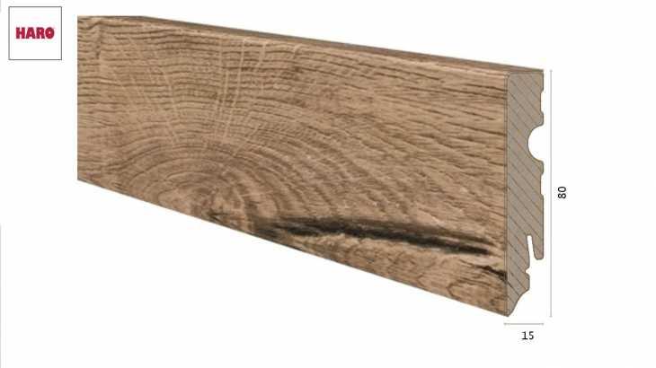 Laminuota grindjuostė Haro Ąžuolas Italica Creme 15*80 MM