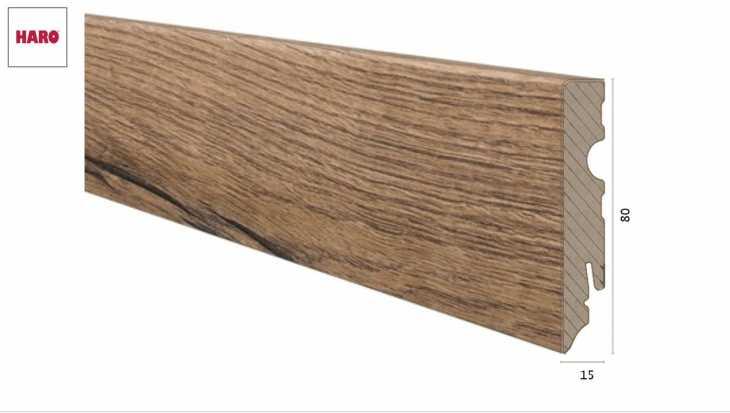 Laminuota grindjuostė Haro Ąžuolas Italica Nature 15*80 MM