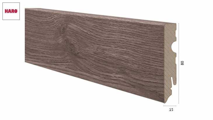 Laminuota grindjuostė Haro Ąžuolas Portland Grey 15*80 MM