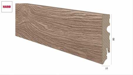 Laminuota grindjuostė Haro Ąžuolas Veneto Crema 15*80 MM