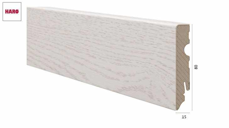 Laminuota grindjuostė Haro Chestnut Bianco 15*80 MM
