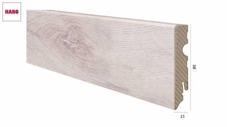 Laminuota grindjuostė Haro Ąžuolas Skandinavian 15*80 MM
