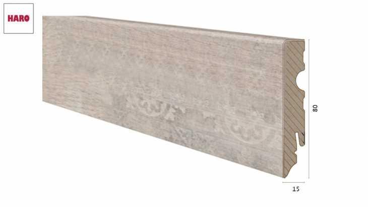Laminuota grindjuostė Haro Stonwood Creme 15*80 MM