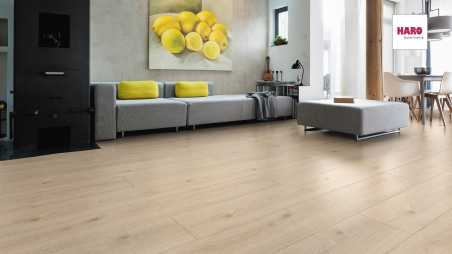 Laminuotos grindys Haro Tritty 100 Gran Via Ąžuolas Contura Stone Grey su akustiniu SILENT PRO paklotu