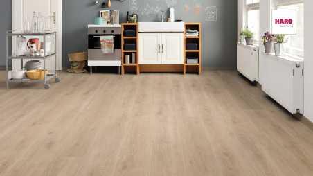 Laminuotos grindys Haro Tritty 100 Gran Via Ąžuolas Veneto Crema su akustiniu SILENT PRO paklotu