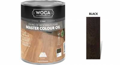 Alyva medinėms grindims Woca Master Colour Oil Black, 1 L