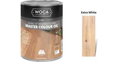 Alyva medinėms grindims Woca Master Colour Oil Extra White, 1 L