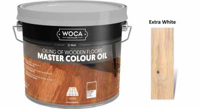 Alyva medinėms grindims Woca Master Colour Oil Extra White, 2,5
