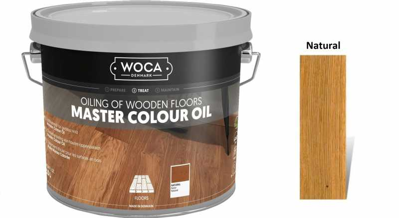 Alyva medinėms grindims Woca Master Colour Oil Natural, 2,5 L