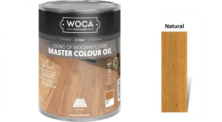Alyva medinėms grindims Woca Master Colour Oil Natural, 1 L
