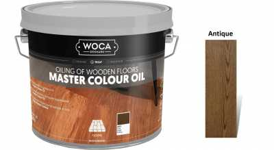 Alyva medinėms grindims Woca Master Colour Oil Antique, 2,5 L