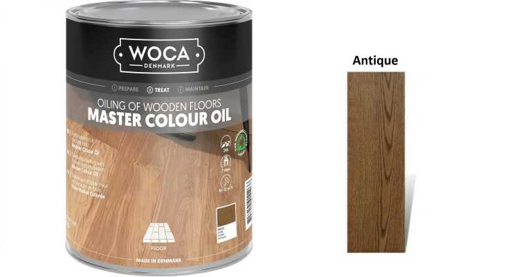 Alyva medinėms grindims Woca Master Colour Oil Antique, 1 L