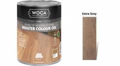 Alyva medinėms grindims Woca Master Colour Oil Extra Grey, 1 L